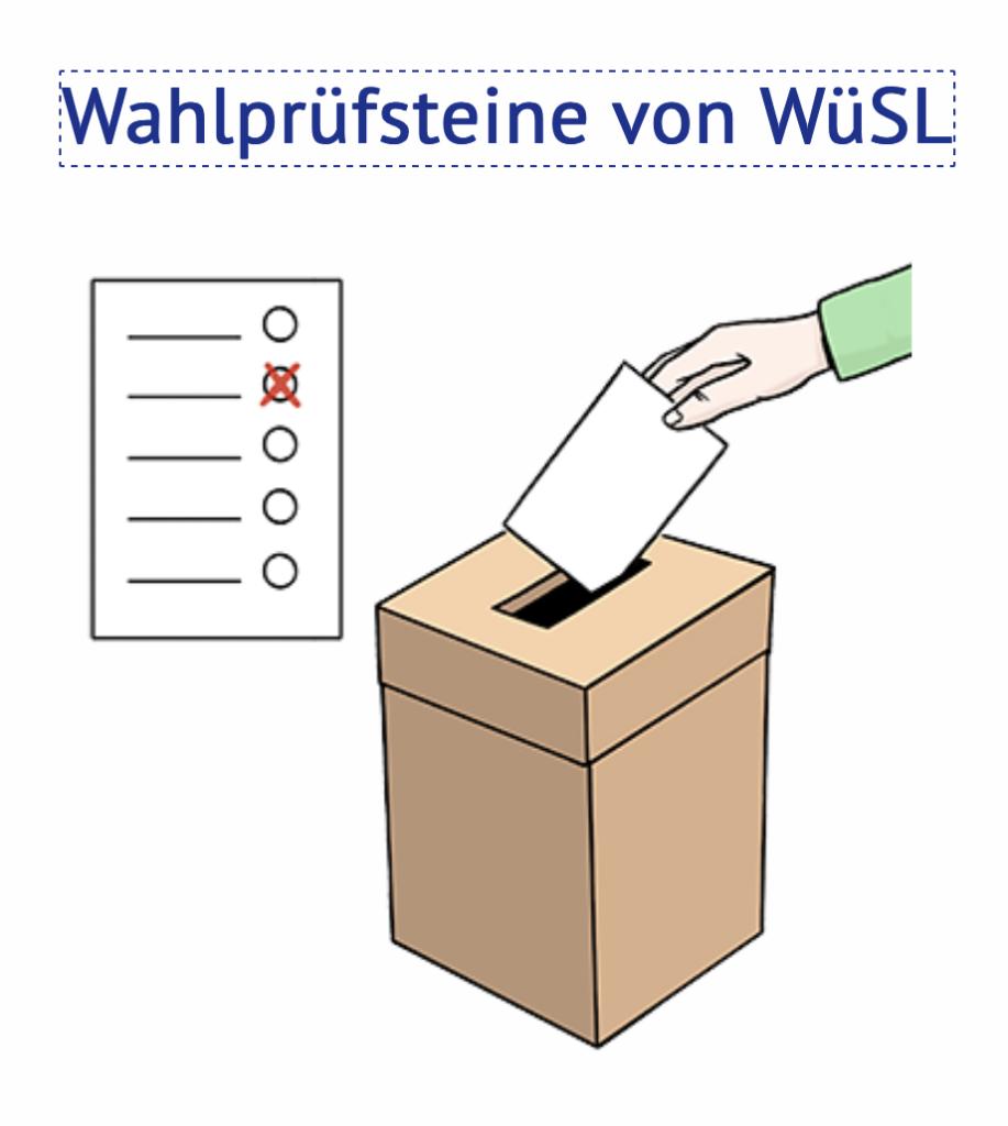 """Screenshot WüSL-Homepage """"Wahlprüfsteine"""""""